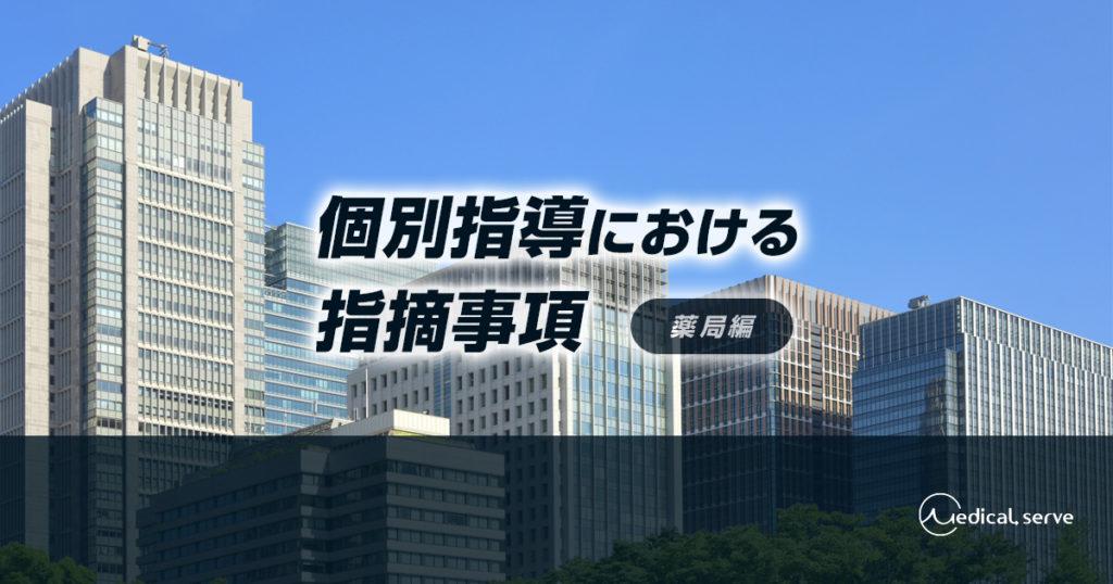 個別指導における指摘事項(薬局編)
